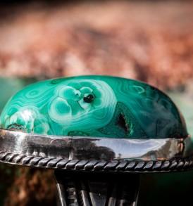 High Dome Morenci Malachite Ring