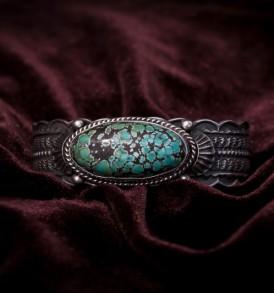 1 Stone Hubei Blue Green Bracelet