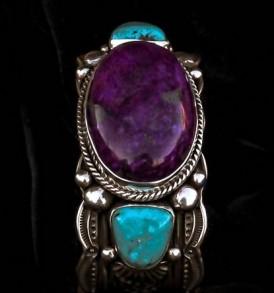 Big Sugilite & Turquoise Bracelet