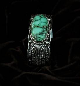 Green Milky Variscite Bracelet