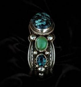Chrysoprase & Turquoise Bracelet