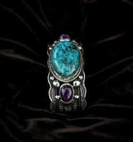 Turquoise Bracelet with Sugilite