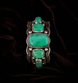 5-stone Chrysoprase Bracelet