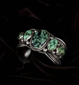 5-stone Variscite Bracelet