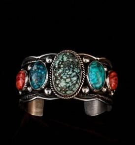 Green & Blue Turquoise Bracelet
